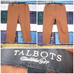 Talbots  Brown Signature Fit Slim Skinny Leg Pants